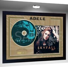 ADELE SIGNED FRAMED PHOTO AND SKYFALL CD Disc
