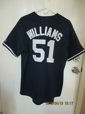 985ae16e5 Vintage Bernie Williams New York Yankees Jersey 51 Large Russell Athletic