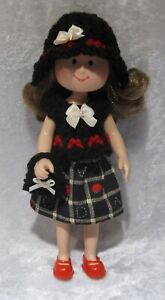 """Made to fit 8½"""" MADELINE #07 Handmade Clothes, Hat, Top, Skirt and Purse Set"""