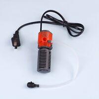 Mini 3in1 Multi-funzione purificatore per acquario Filtro acqua pompa filtr PQ