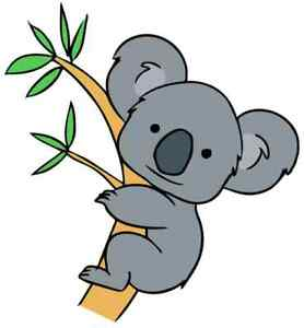 cool cute koala bear iron on t shirt transfer A5