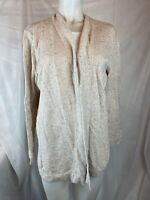 Karen Scott Women's XLarge Walnut Tan Open Front Casual Cardigan Sweater New #67