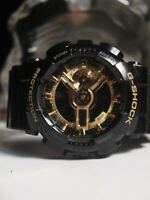 CASIO G-SHOCK GA-110GB SPORTS WATCH IN BLACK & GOLD (DIGITAL + ANALOG) AU STOCK