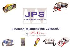 Calibration Service Electrical Multifunction Fluke Megger Kewtech Testers JPSCAL