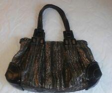 Jessica Simpsom Gray Print Animal  Satchel Shoulder Bag Purse pre owned