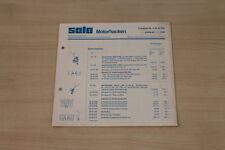 177273) Solo Motorhacken - Preisliste - Prospekt 07/1980