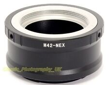 M42 Pentax Screw Carl ZEISS Schneider TAKUMAR Lenses to Sony NEX Mount Adaptor