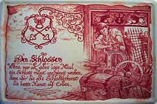 Beruf Schlosser Blechschild Metallschild Schild gewölbt Tin Sign 20 x 30 cm