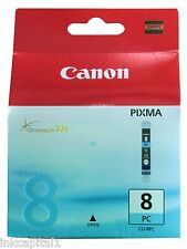 1 x Canon Original OEM CLI-8PC, CLI8 PHOTO CYAN Cartouche jet d'encre
