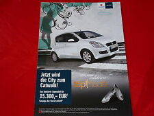 "Suzuki Splash ""Germany 's Next Top Model"" colección folleto de 2009"