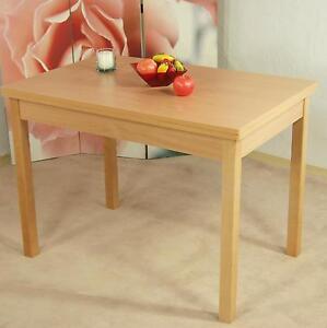 Tisch Ausziehbar Buche natur Esstisch teilmassiv Esszimmertisch Küchentisch neu