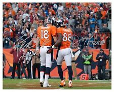PEYTON MANNING AND DEMARYIUS THOMAS AUTOGRAPHED 8x10 RP PHOTO DENVER BRONCOS