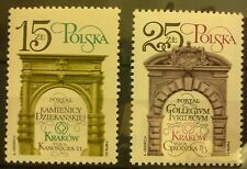 POLAND STAMPS MNH 1Fi2693-94 Sc2547-48 Mi2841-42- Restorat. of Cracow-1982,clean