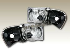 01-05 FORD EXPLORER SPORT TRAC BLACK HEADLIGHTS CORNER