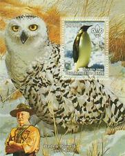 BIRD OWL PENGUIN BADEN POWELL REPUBLIQUE DU BENIN 2006 MNH STAMP SHEETLET