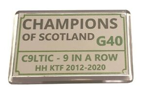 Celtic champions 9 in a row Fridge Magnet - Street sign