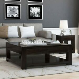Boston Large Square Coffee Table Solid Wood Contemporary Style (MADE TO ORDER)