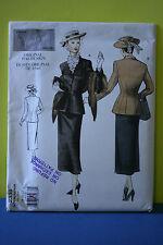 UNCUT Vogue Vintage #2339 1948 costume SZ 18-22 Fitted Jacket & Skirt pattern