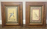 Antiqued Framed Prints From H. Hal Kramer Co. Chicago Birds