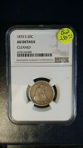 1875 S TWENTY CENT PIECE NGC AU SILVER 20C Coin PRICED TO SELL!