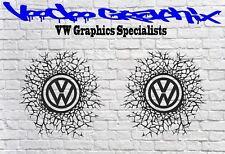 """Volkswagen VW Extra Large 17"""" Decal Stickers X2 Transporter T6 T5 T4 Campervan"""