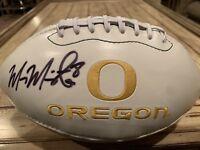 Marcus Mariota Autographed/Signed Football Holo Oregon Ducks Tennessee Titans