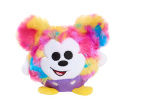 New Disney Rainbow Fur Mickey Mouse Squeeze Me Super Soft Small Round Plush Kid