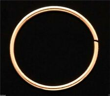 14k Carat Yellow Gold Nose Ring Earring Lip Body Piercing Ring Nose Hoop 20g 8mm
