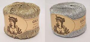Lurex Garn Glitzer - GALA Gold / Silber 25 g - Lurexgarn Glitzergarn Häkelgarn