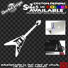 Flying V Guitar Custom Vinyl sticker Fender Laptop Car Window Gibson ESP Metal