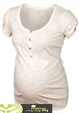 New Maternity Nursing Breastfeeding Cream / White Tshirt top in sizes 12 or 14