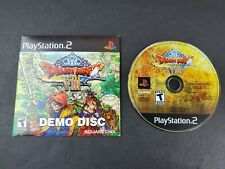 Dragon Quest VIII 8 Demo Sony Playstation 2 PS2 Demo Game Disc w/Sleeve TESTED