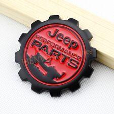 Matte Black Metal Performance Parts Front Hood Rear Trunk Emblem Badge For Jeep