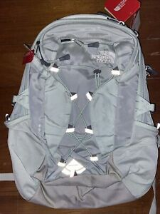 NWT The North Face Borealis Women's Backpack,  GREEN MIST & WHITE  Free Shipping