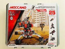 Meccano Super Construction Set, 25 Motorized Model Building Set, 638 Pieces