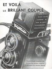 ▬► PUBLICITE ADVERTISING AD VOIGTLÄNDER BRILLANT COUPLE APPAREIL PHOTO 1938