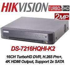 Hikvision DS-7216HQHI-K2 H.265+ 16CH DVR 4MP TVI/AHD, 2MP CVI + 2CH 4MP IP