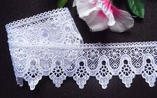"""2 1/4"""" White Venise Lace Trim - Floral Venice Lace selling by the yard"""