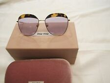Authentic MIU MIU MU 53QS 7S03F2 LIGHT HAVANA SUNGLASSES