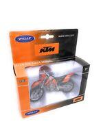 KTM Motocicleta EXC 525 Naranja Cross Enduro Modelo Producto de Licencia 1:18