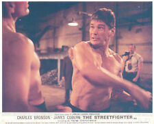 The Streetfigter Hard Times Original Lobby Card Charles Bronson barechested figh