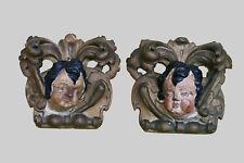 COPPIA PUTTI Wandappliken barocco ANGELI probabilmente del 1650 (-615)