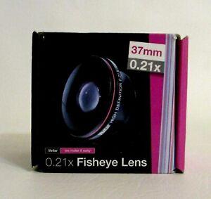 New Vivitar 37mm 0.21x Fisheye Lens HD Wide Angle Steel Barrel Construction