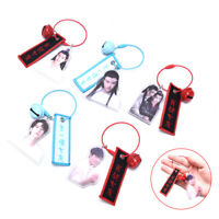 The Untamed Xiaozhan Wang Yibo Bell Keychain Removable Canvas Key Chain xj