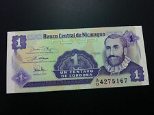 NICARAGUA banknote- 1 Centavo de Cordoba + gratis banknotes Croatia !!!