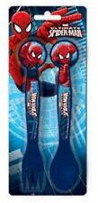 Set couverts - SPIDER MAN - 2 pièces en plastique bleu * NEUF *