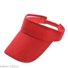 Accessotech Red Sports Sun Visor Cap Hat Adjustable for Golf Tennis Fishing