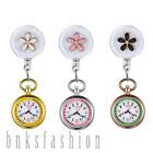 Stethoscope Nurse Watch Women Retractable Clip-on Flower Quartz Fob Pocket Watch