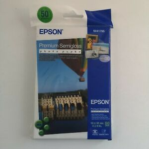 Epson Premium Semigloss Photo Paper 4x6 Inch 10x5cm - 50 Sheets New (S041765)