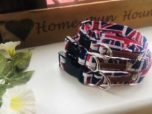 *~ Union Jack dog collars ~* X Small, Small, Medium & Large
